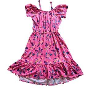 FabKids Floral Cold Shoulder Midi Dress